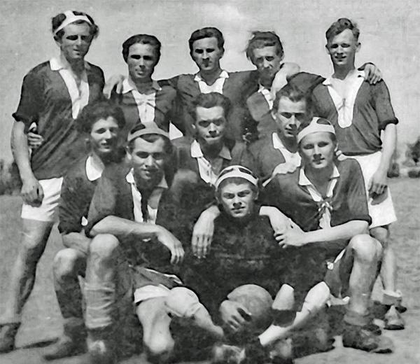 Blau Weiss Lebus - erste Fußballmannschaft 1947/48