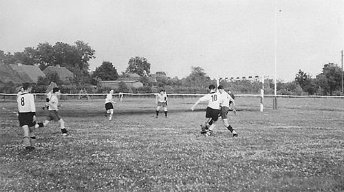 SG Lebus - der neue Sportplatz im Jahre 1955