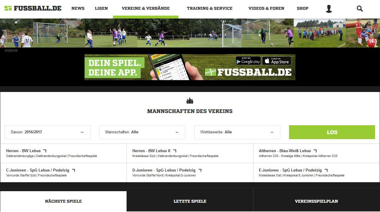 SV Blau-Weiß Lebus - Link zum Portal Russball.de