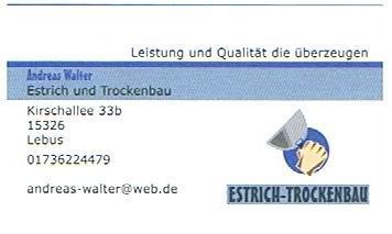 Estrich- und Trockenbau Andreas Walter